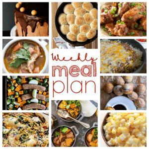 The perfect weekly meal plan!