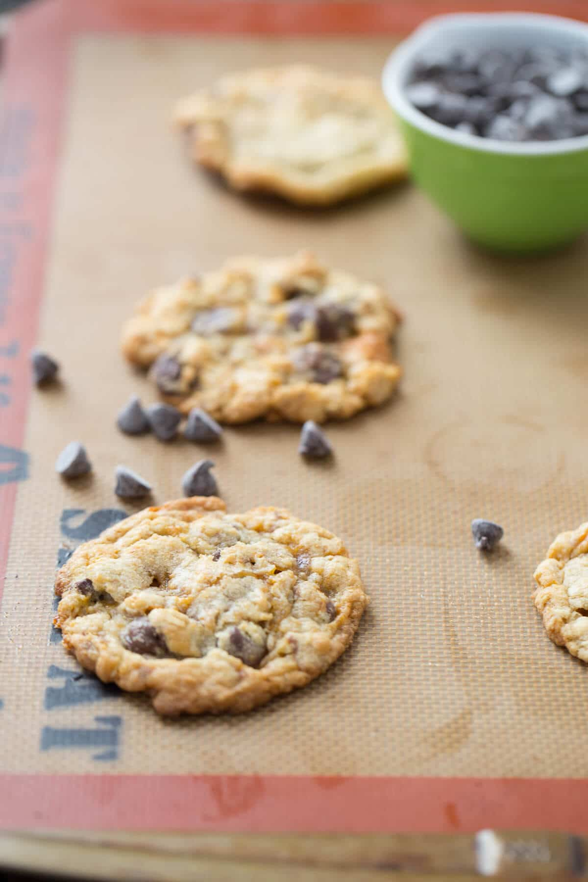 Chocolate Chip Butterfinger Cookies - Lemons for Lulu