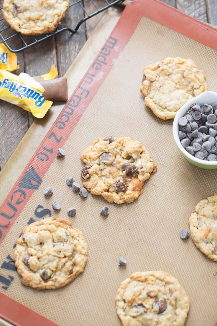 Nothing tastes quite like a Butterfingers!  If you love the candy, you will love these Butterfinger cookies!