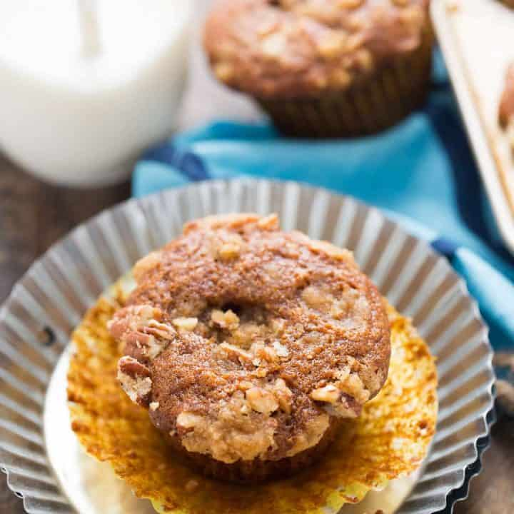 Cheesecake Filled Gingerbread Muffins