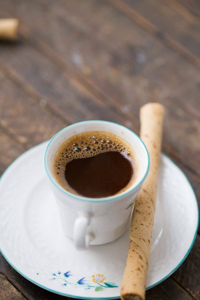 Greek coffee goes well with good conversation and good company!