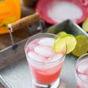 Get your happy hour going with this margarita on the beach cocktail. This simple drink is the combination of two classics!
