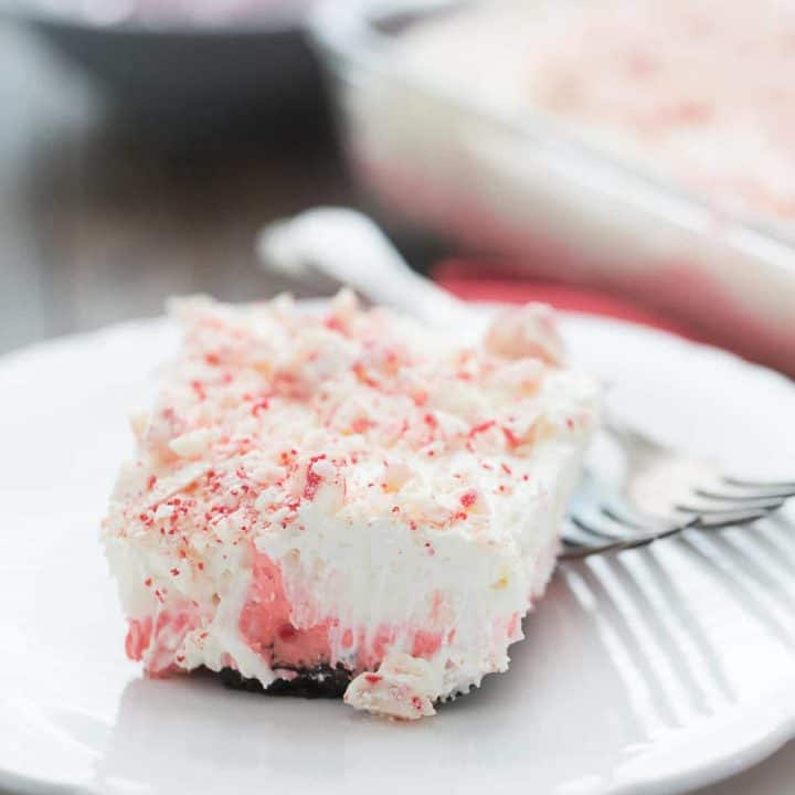 Peppermint Layered Pudding Dessert