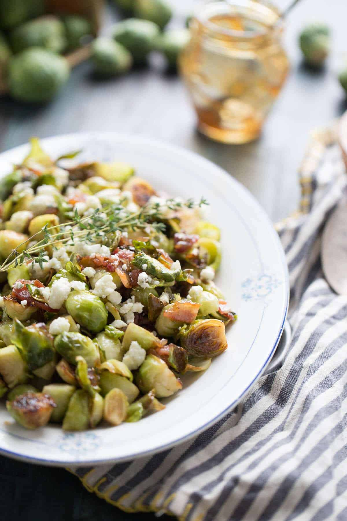 Sauteed Brussels Sprouts with Fig Jam {Lemons for Lulu}