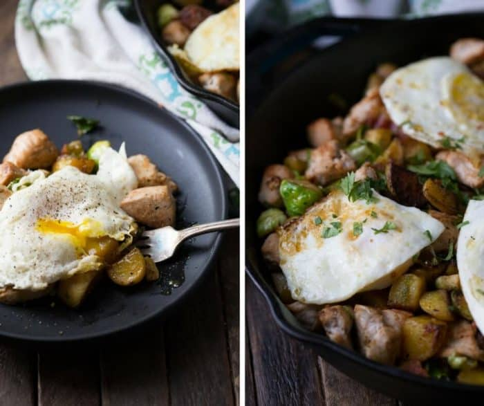 Got leftover turkey? Then grab a skillet and get to making this turkey hash.