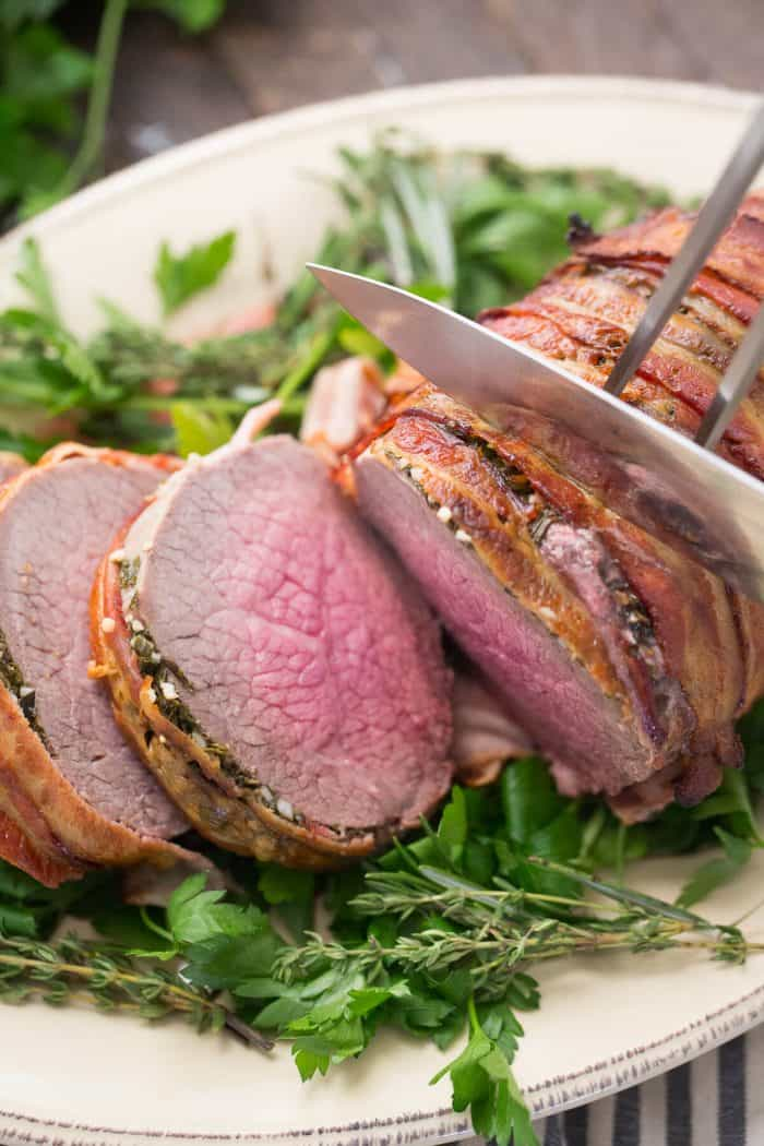 how to cook bacon wrapped beef tenderloin in the oven