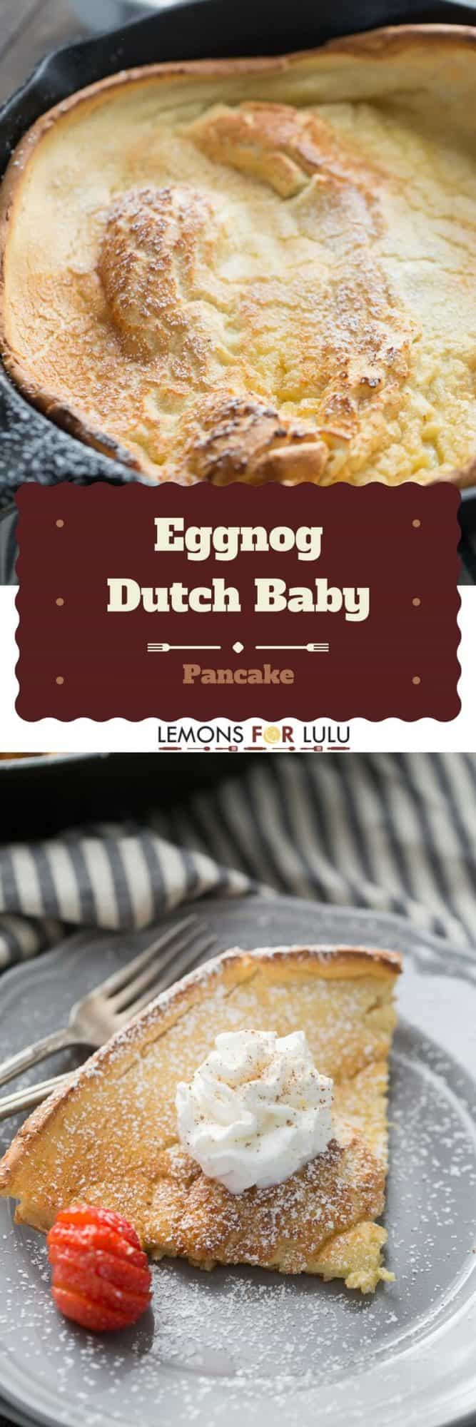 Ready to take breakfast to new heights?  This eggnog Dutch baby recipe is so crazy simple, but will wow your family and guests every time!