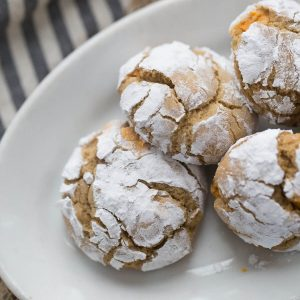 Crinkles cookies recipe with a little caramel flavor! Same great look, whole new taste!