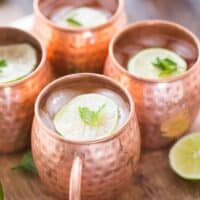 Champagne Moscow Mule with Mint