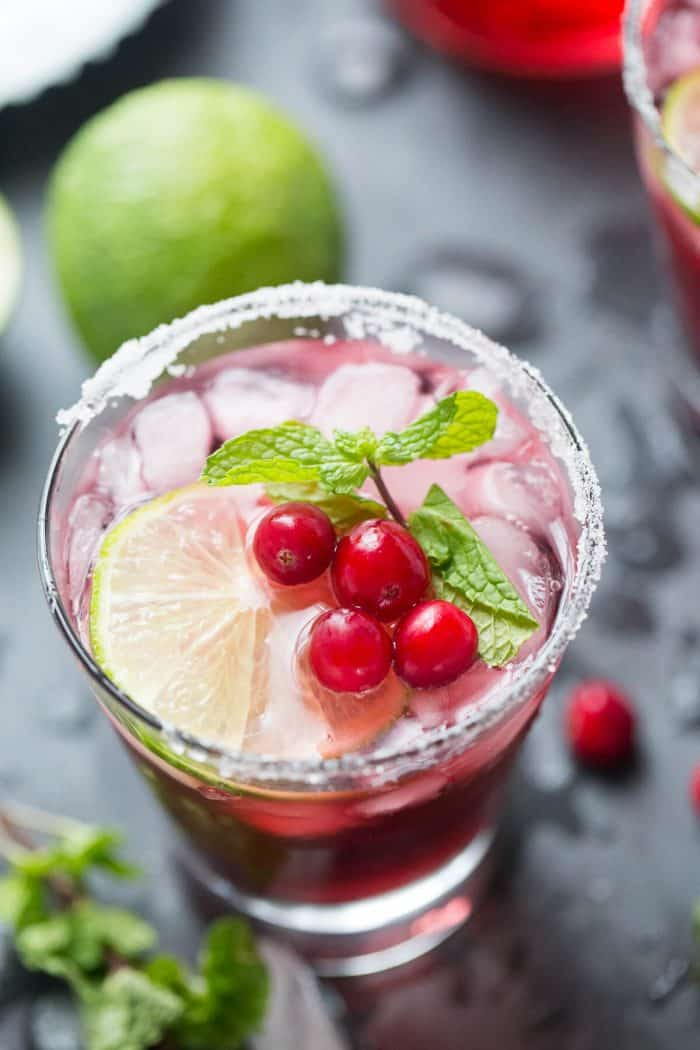 Cranberry juice and rum makes this a tangy sweet daiquiri that is a must try!