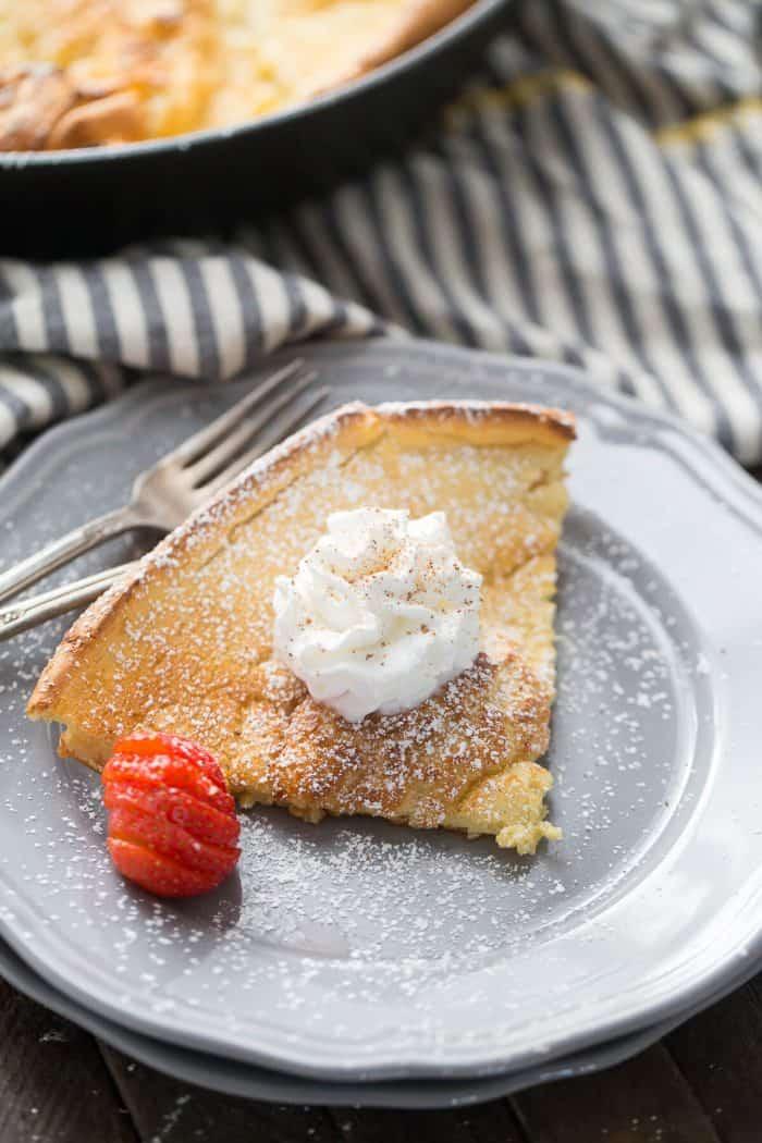 This Dutch baby pancake is simple to prepare yet remains impressive! Everyone will love this light, fluffy pancake!
