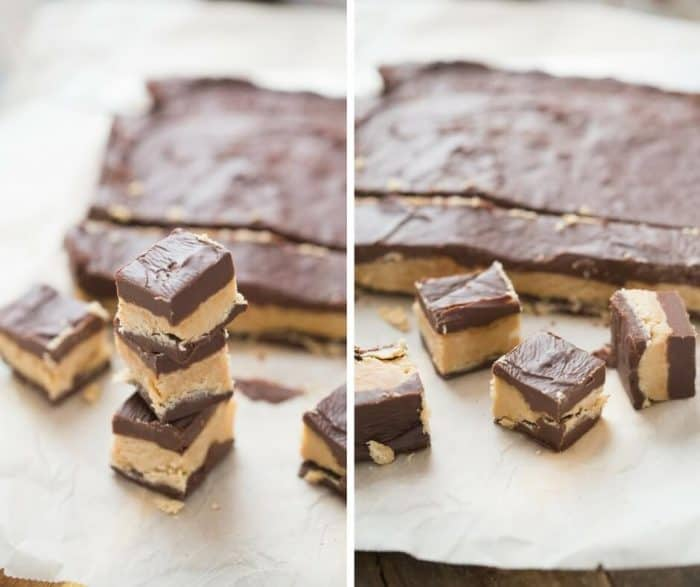 Chocolate fudge and peanut butter fudge come together in this easy fudge recipe!