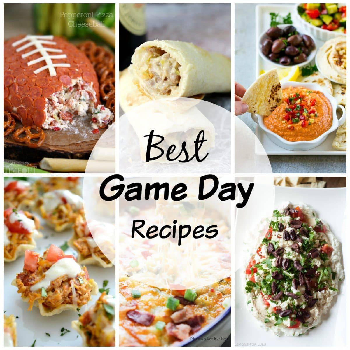 Here is a collection of the Best Game Day Recipes to share with your friends!