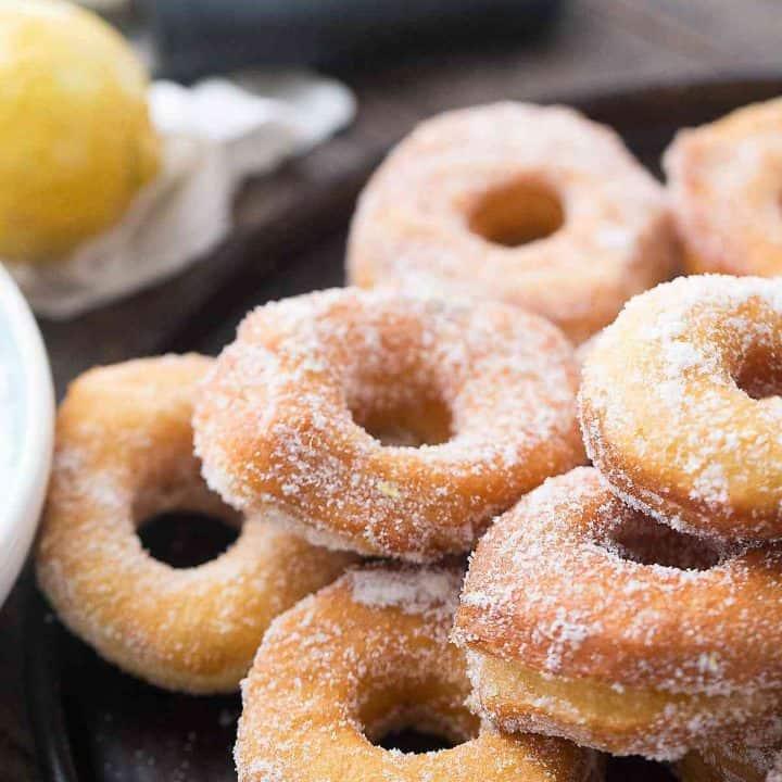 Lemon Sugar Biscuit Donuts