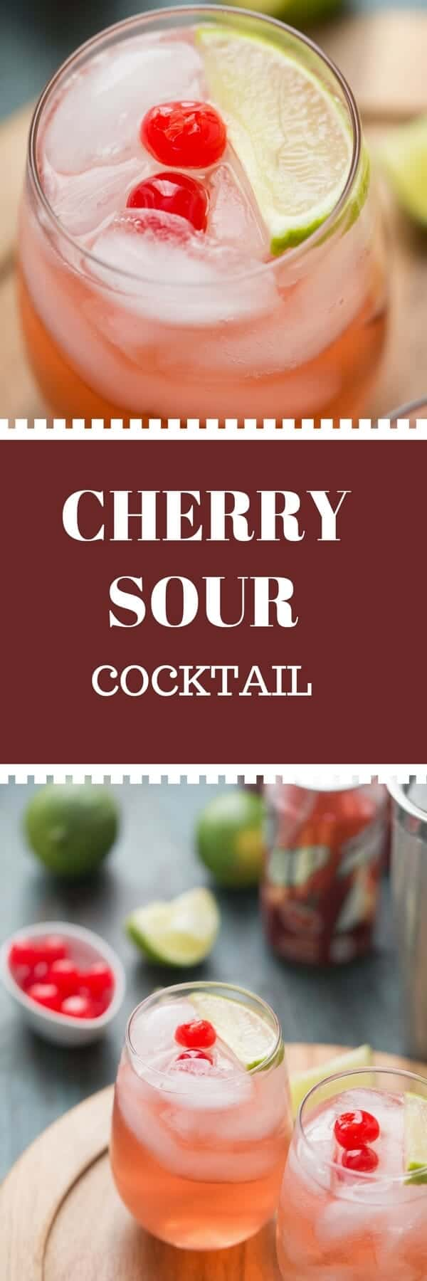 Sour cocktails are fun to drink and make, but this cherry sour cocktail; with it's sour mix and it's sweet cherry flavor beats any sour cocktail out there!