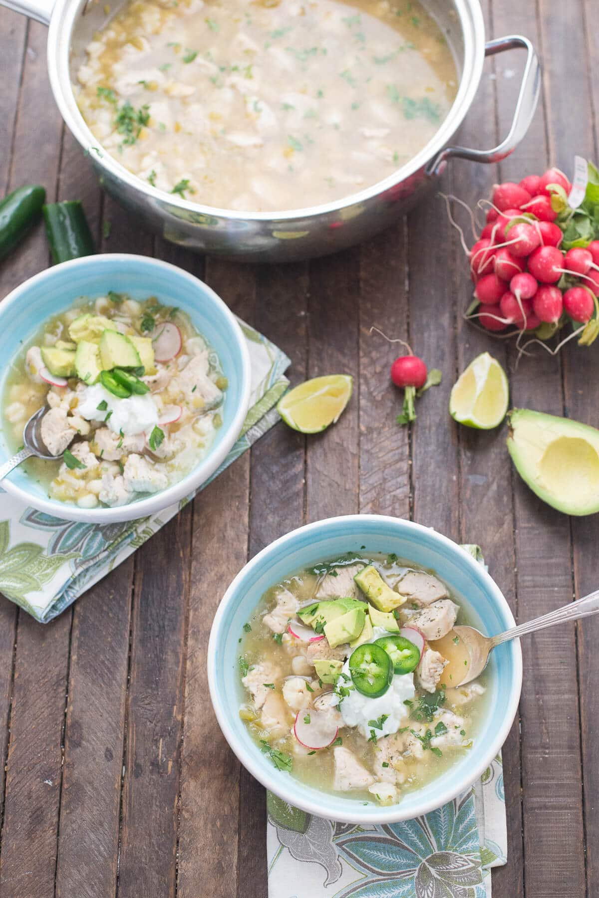 Turkey posole is a bowl of pure comfort! This is soup is easy and will have you licking the bowl clean!