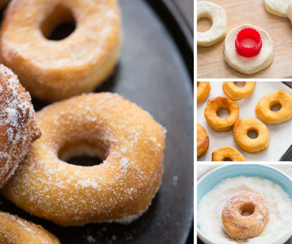 Bisuit donuts could not be easier! These are perfect coated in a simple lemon sugar topping.