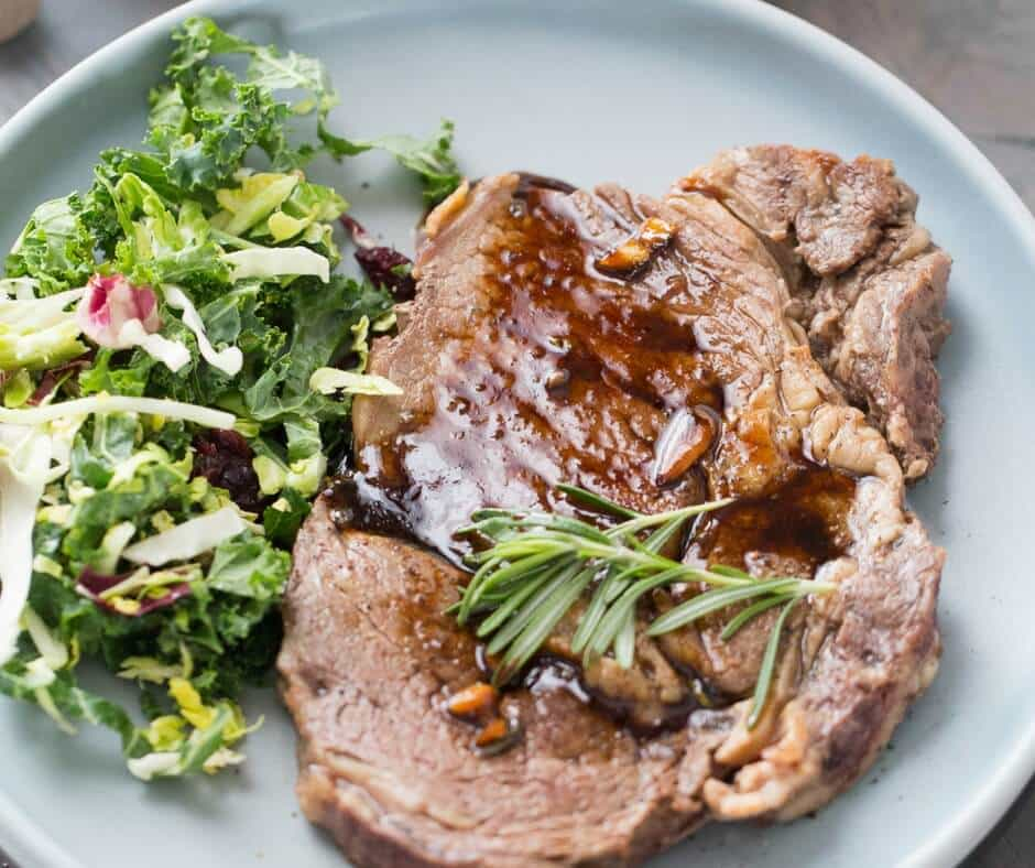 Pan-Seared Ribeye Steaks with Kahlua Sauce