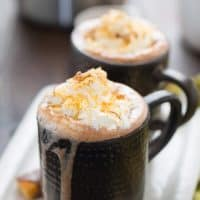 Butterfinger Hot Cocoa {Boozy}