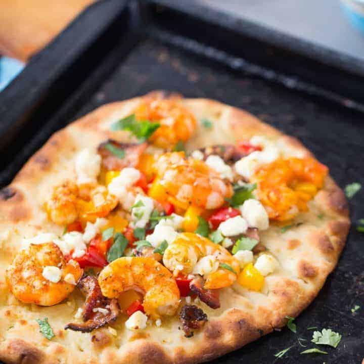 Cajun Shrimp Pizza {Naan Bread Pizza} and Board to Table