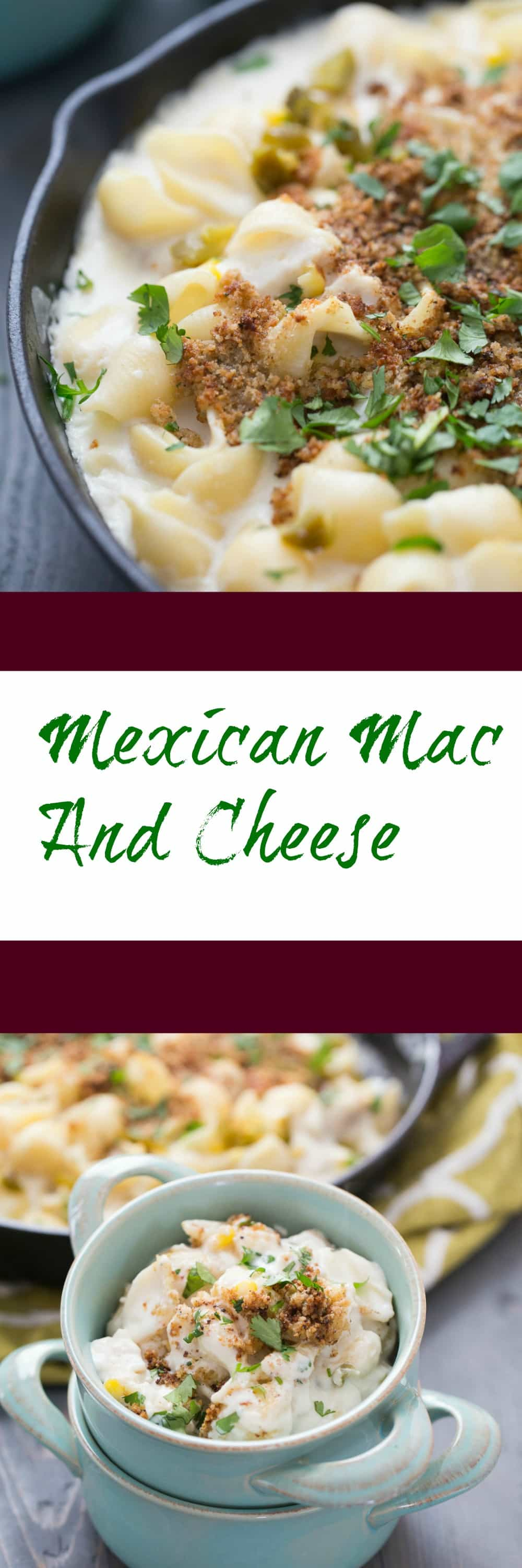 This Mexican Mac and Cheese is going to have you hooked with one bite! Chicken, corn and cheese abound in each bite!
