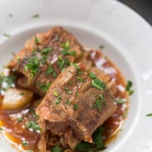 Guinness makes these slow cooker short ribs taste amazing! You will love this hearty meal!