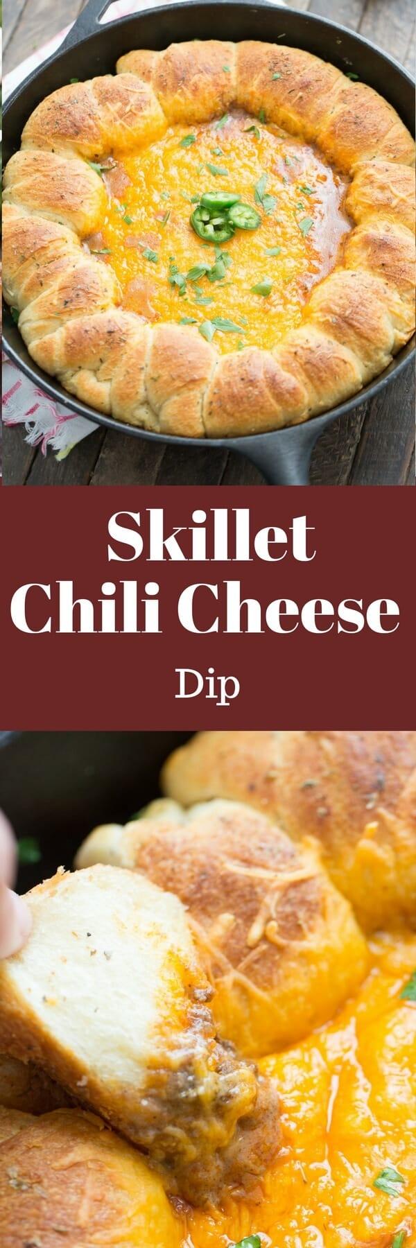 Skillet Chili Cheese Dip Recipe — Dishmaps