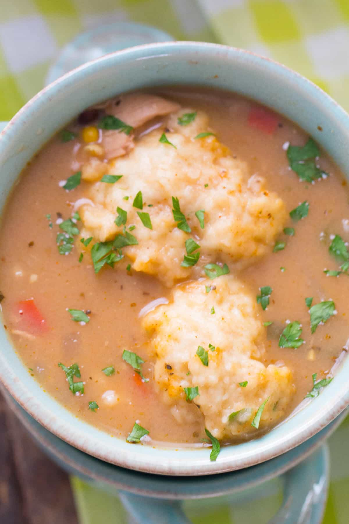 Chicken and dumplings get a modern update! This Tex-Mex version has lots of bold flavor!