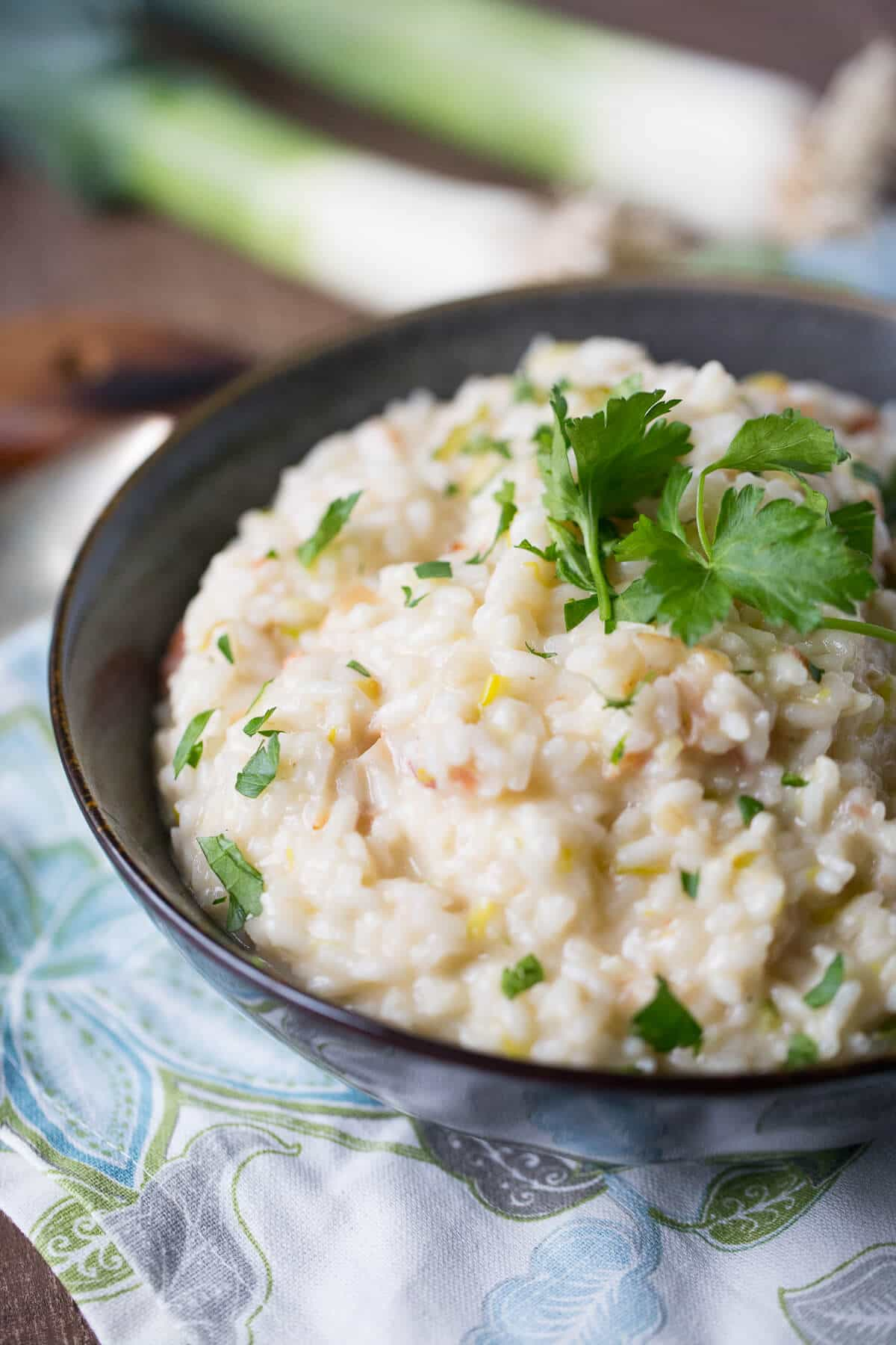This bacon risotto is going to change how you do sides! Risotto seems intimidating but it is so easy to prepare!