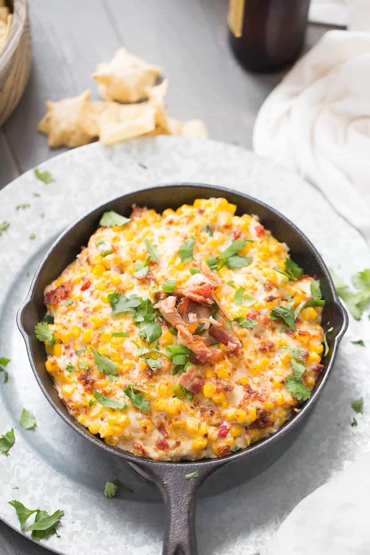 This hot corn dip is so easy and so good! It will be the first dip to disappear!