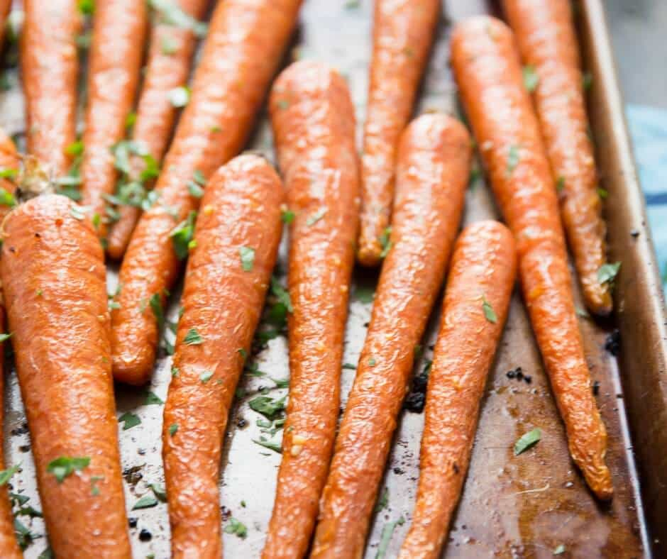 Oven roasted carrots are soft and tender! You will love how simple they are to prepare!