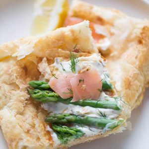 This recipe for asparagus and smoked salmon is light and tasty! It is an impressive dish for those special occasions!