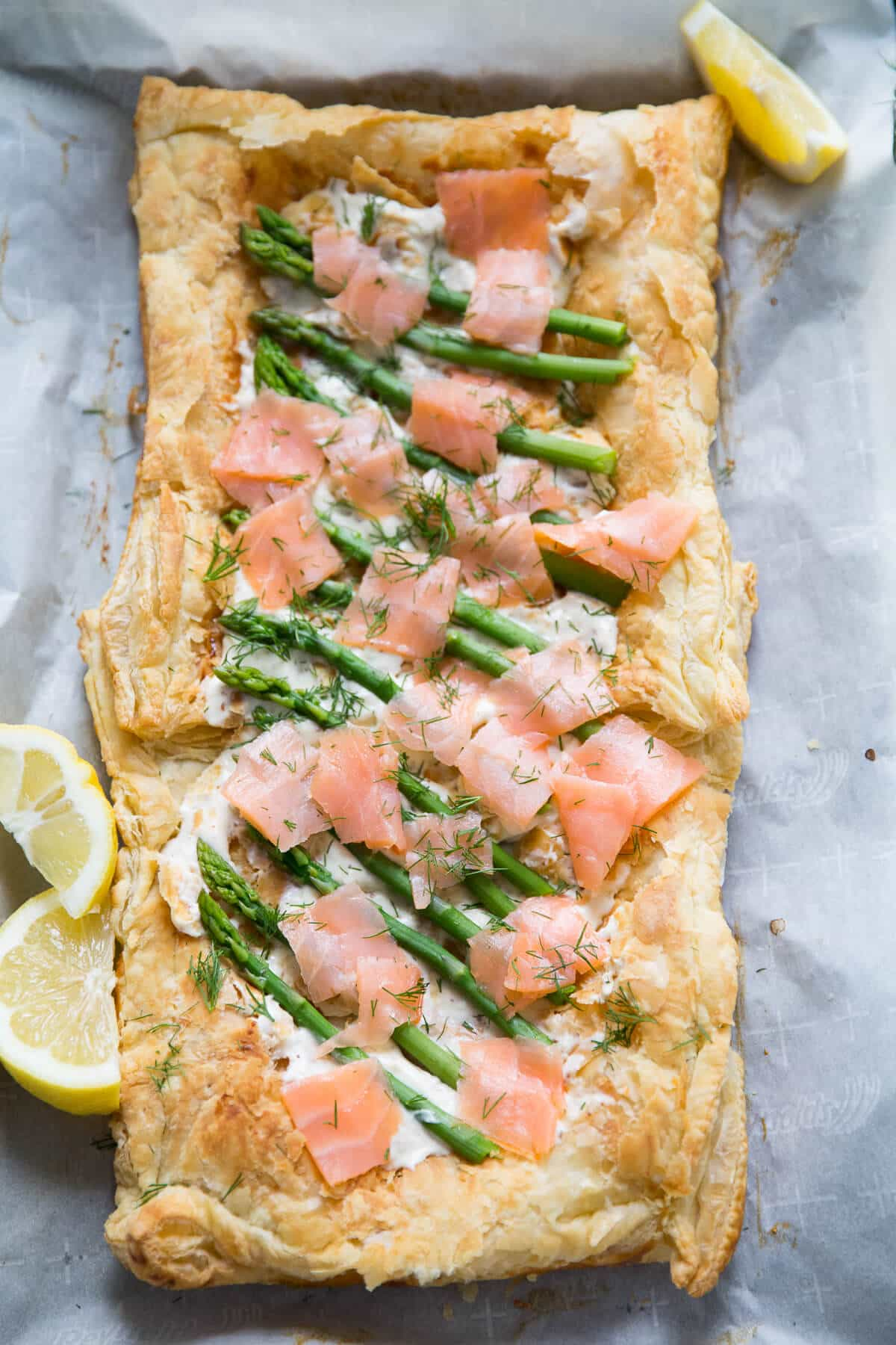 The recipe for asparagus and salmon tart is a show stopper! Only you know will know how simple it is!