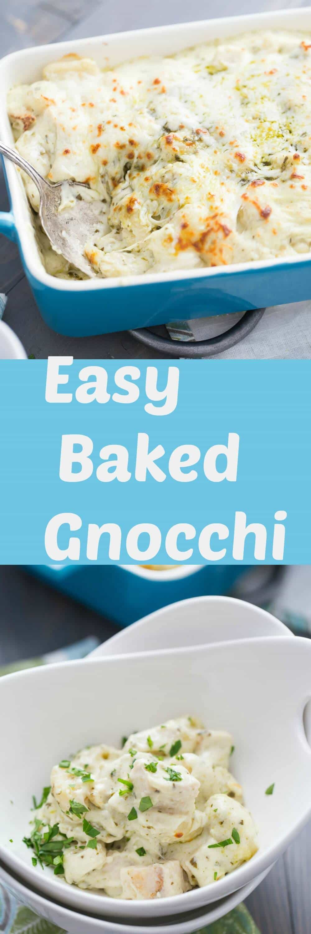 This easy gnocchi recipe is the best! Frozen gnocchi makes it simple as it is added to three kinds of cheese, chicken and pesto! Dinner made simple! lemonsforlulu.com