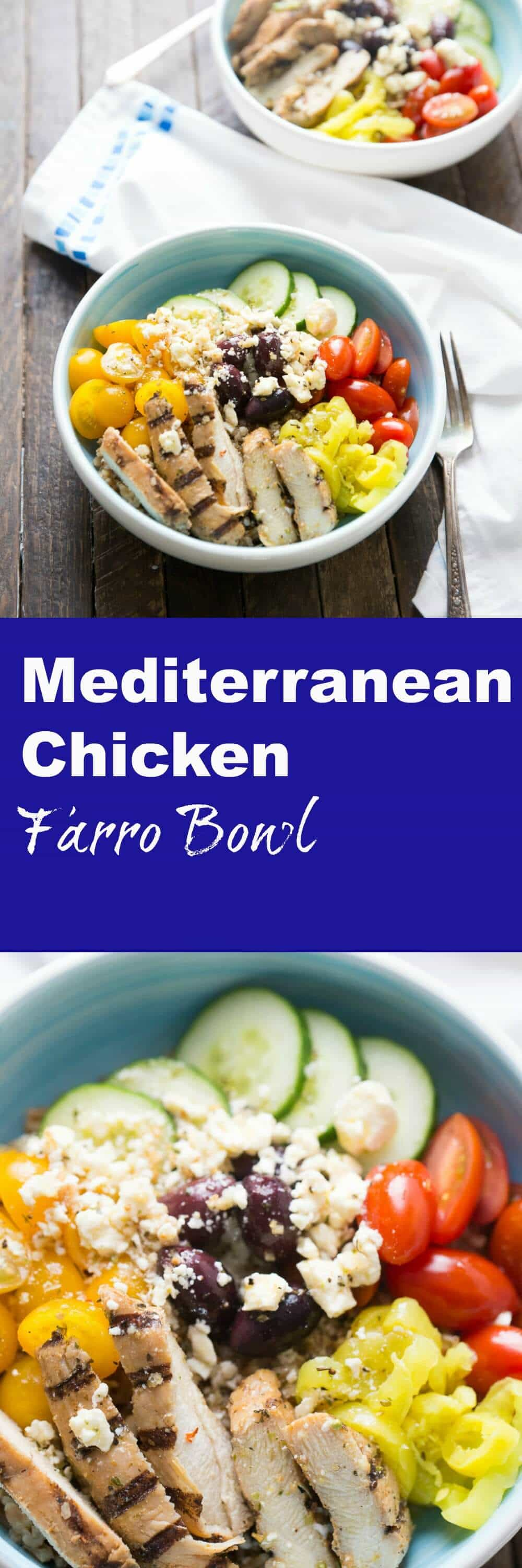 This Mediterranean chicken bowl will be one of those meals you turn to over and over again when you want something easy and healthy! This bowl is filled with so many flavors, it is absolutely delicious! lemonsforlulu.com @jvillesausage