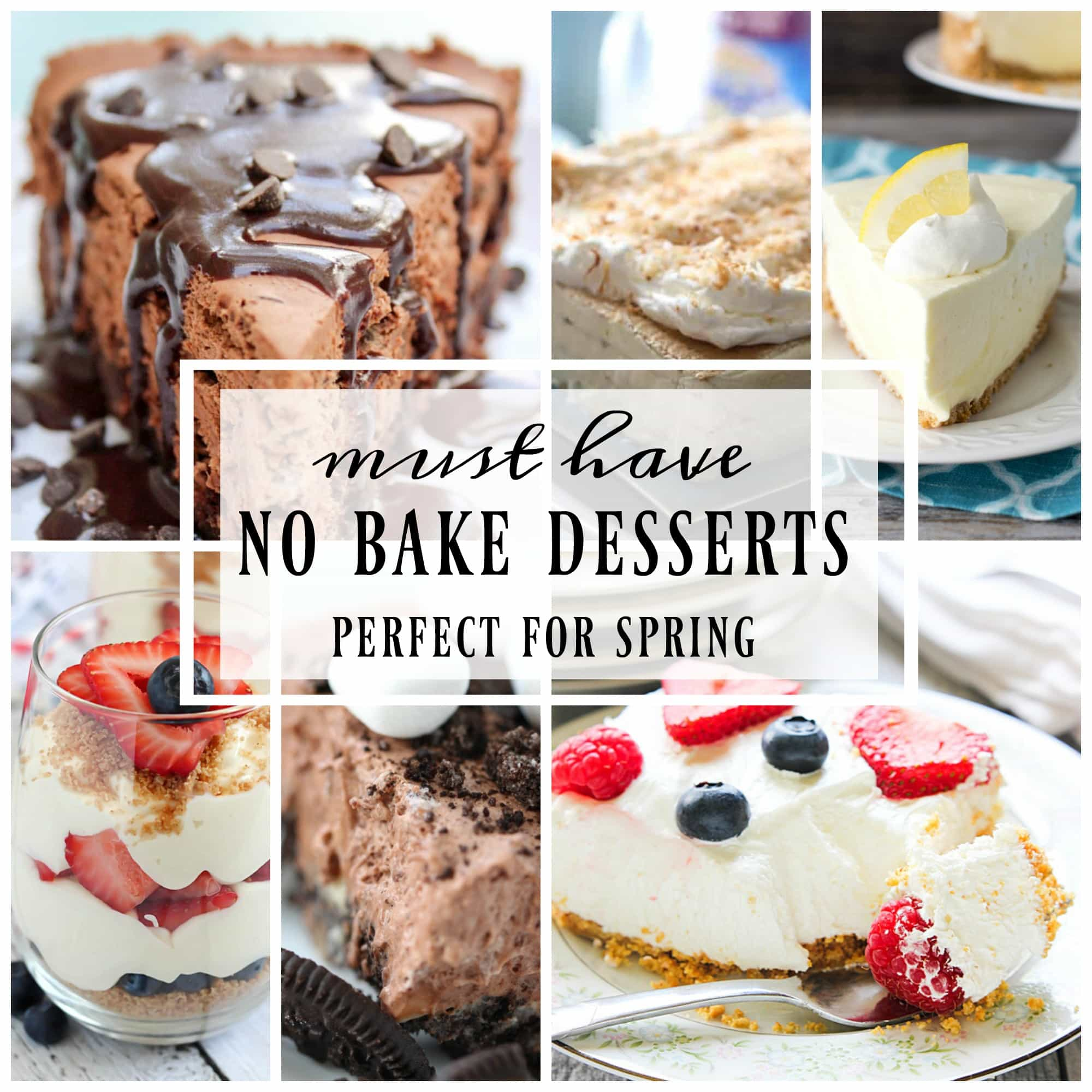 When the weather gets warmer, no bake desserts are a must!