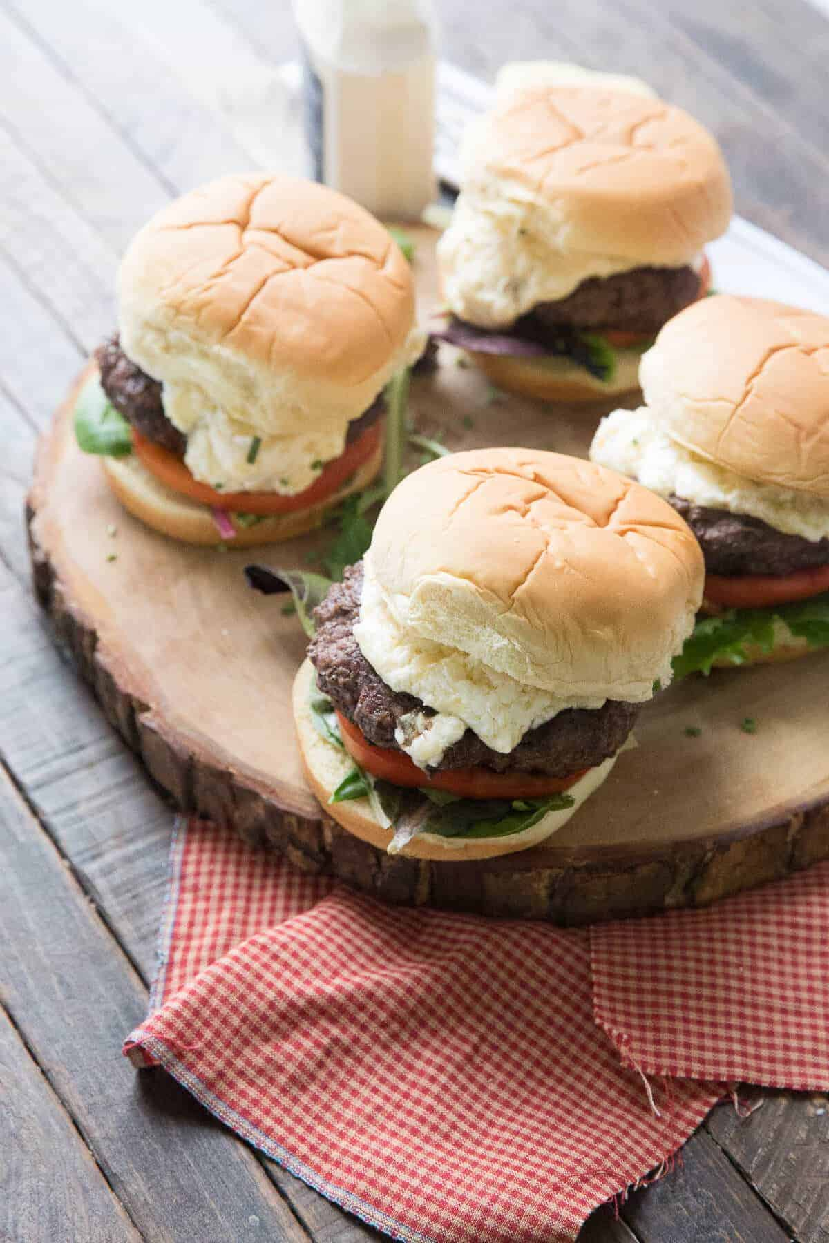These horseradish cheddar burgers are big on beef and big on flavor! A great way to kick of grilling season!