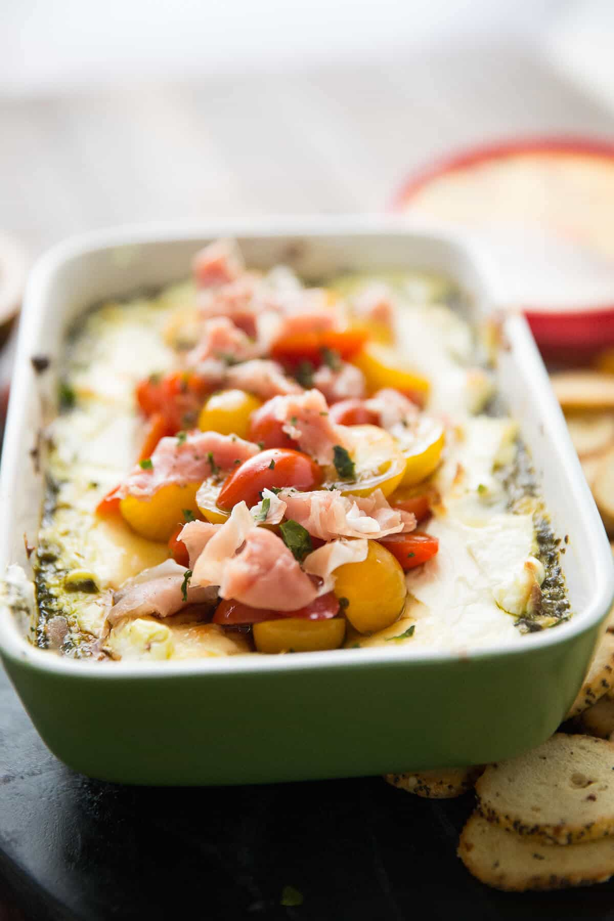 Baked goat cheese is a simple appetizer that everyone will love! It hot and cheesy and so good!