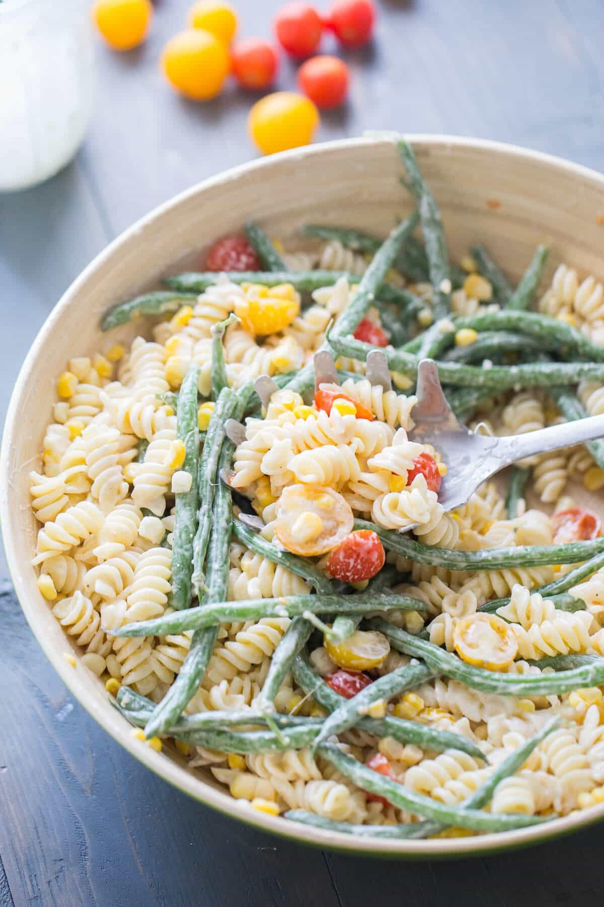 Loaded Vegetable Pasta Salad {Lemons for Lulu}