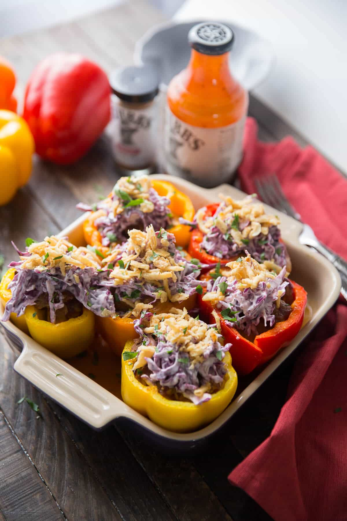 Love stuffed peppers? These Southwest stuffed peppers with their BBQ brisket is sure to be a hit!