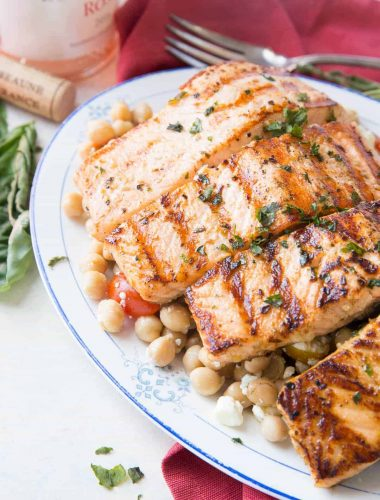 This is an easy way to enjoy salmon on the grill. It is loaded with flavor and so simple!