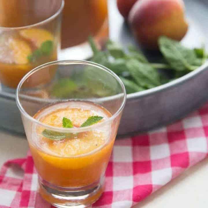 Peachy Bourbon Slush Punch