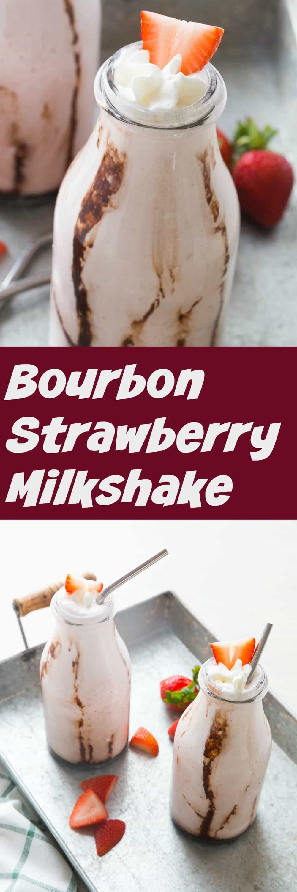 Nothing is as wonderful as a smooth and creamy strawberry milkshakes! A little bourbon brings out the pure sweetness of the strawberries and tastes amazing in this adult milkshake!
