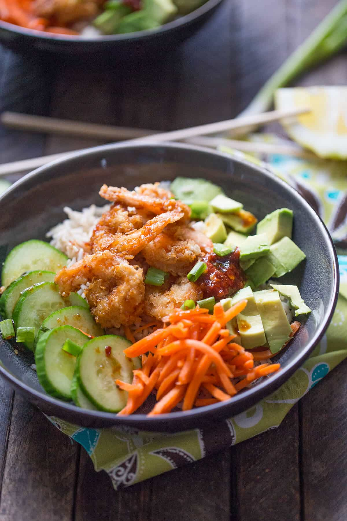 This breaded sushi bowl is perfect for when you crave sushi but don't want to dine out!
