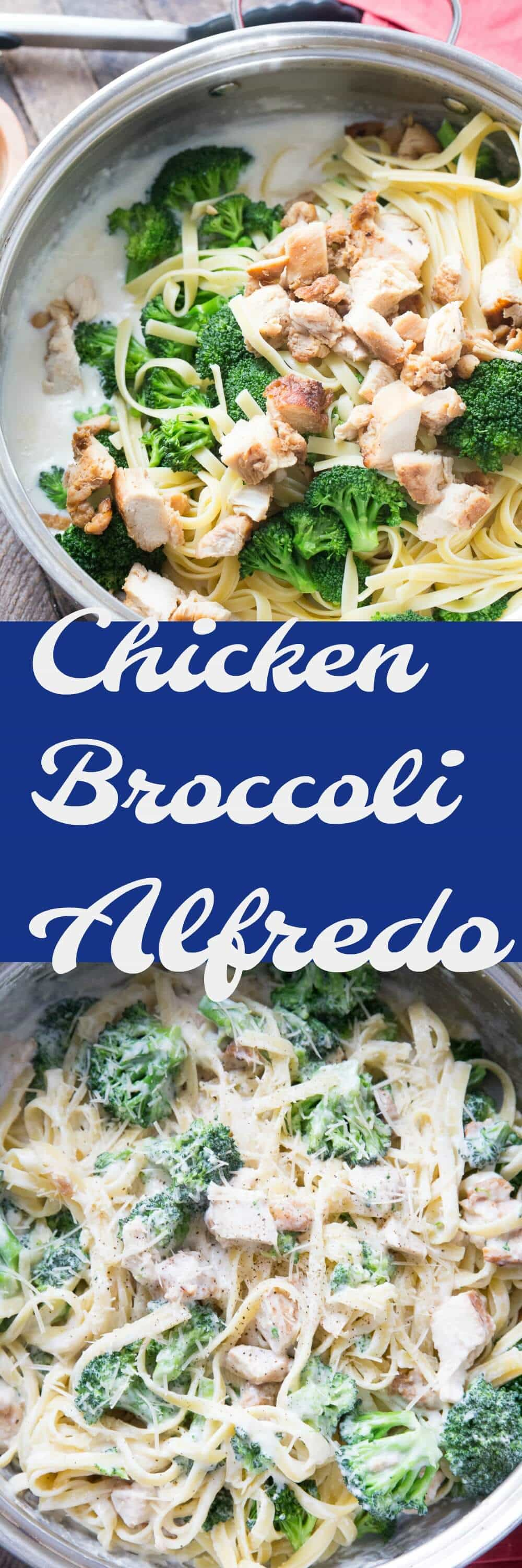 What's not to love about chicken broccoli alfredo? It's rich tasting, creamy and delicious! It's simple too! Oh and it's light!