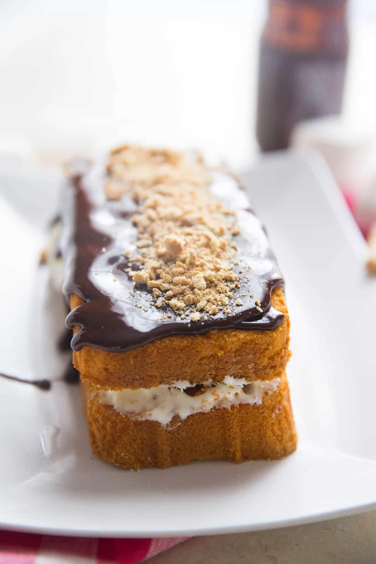 Toasted marshmallow ice cream cake recipe