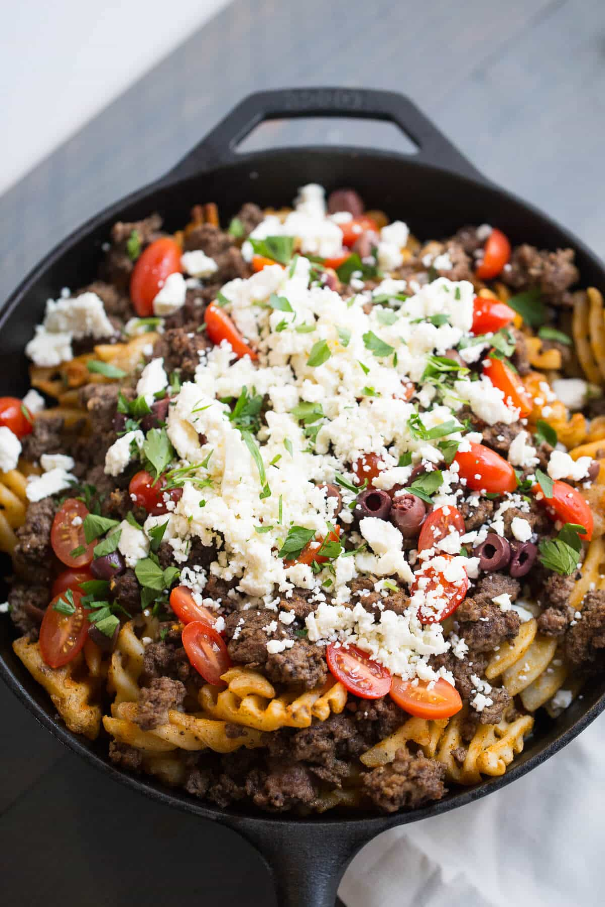 These Greek Fries can be served as a meal with a salad or as an appetizer. Great Greek flavors are present in every bite!