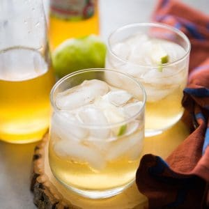 This fruit shrub recipe is crisp, sweet and refreshing. You don't often think of cider vinegar as a beverage ingredient, but it really enhances the flavor of fruity drinks. Plus shrub is just fun to say!