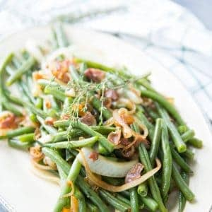 Easy balsamic green beans