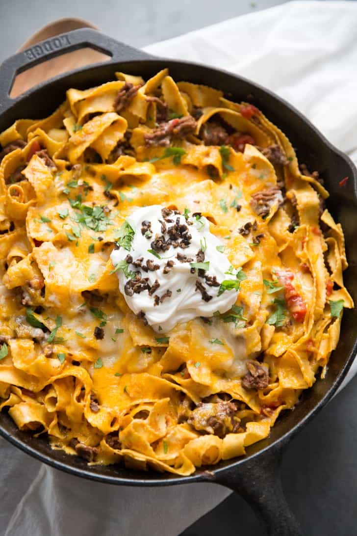 cheesy beef and noodles